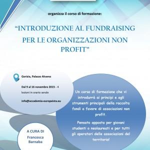 Volantino Corso Fundraising